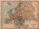 EUROPE: Political. United Germany marked as Prussia. COLLINS;1880 map